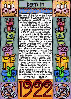Fun facts birthday 1922 greeting card birthday party ideas for fun facts birthday 1922 greeting card bookmarktalkfo Gallery