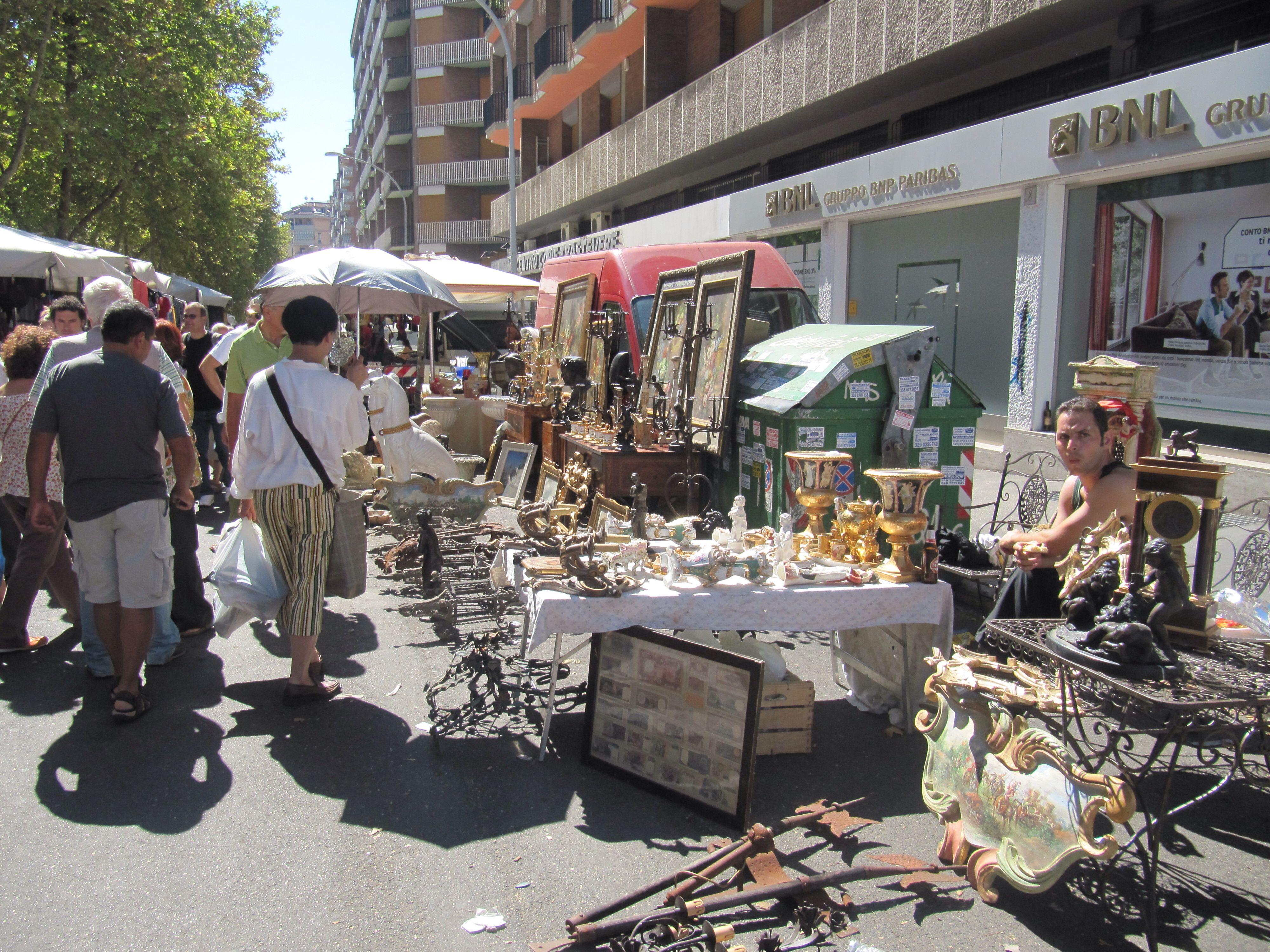 Flea market porto portese in rome italy italy travel
