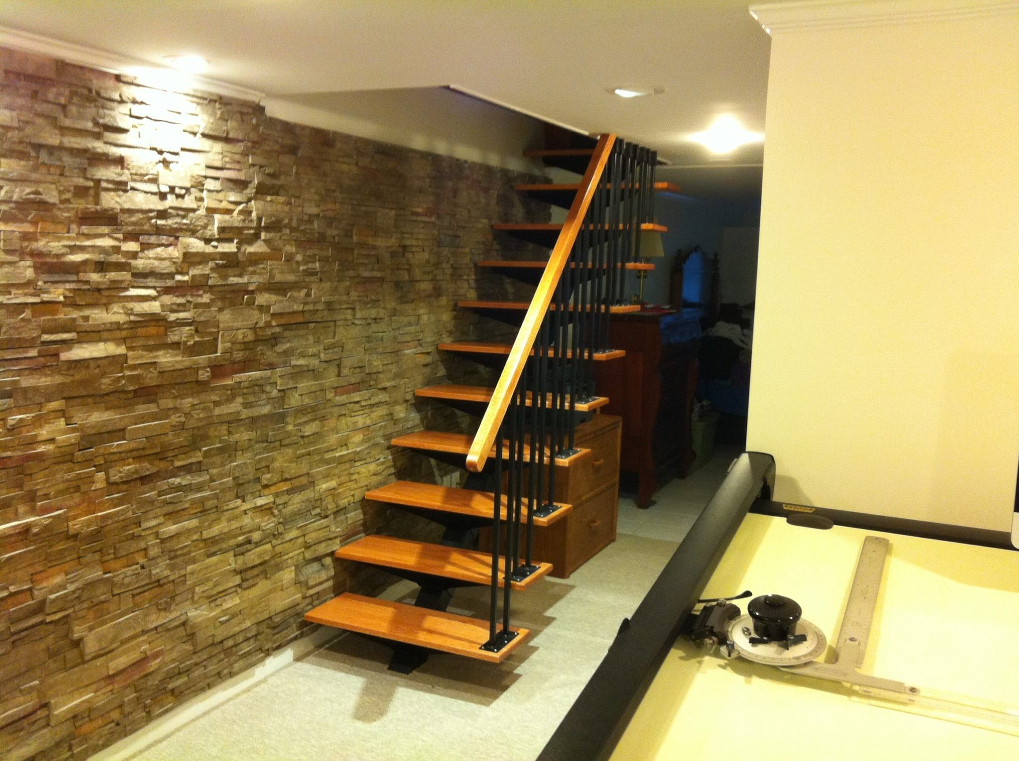 Floating Staircase Kit In A Local Customers Home
