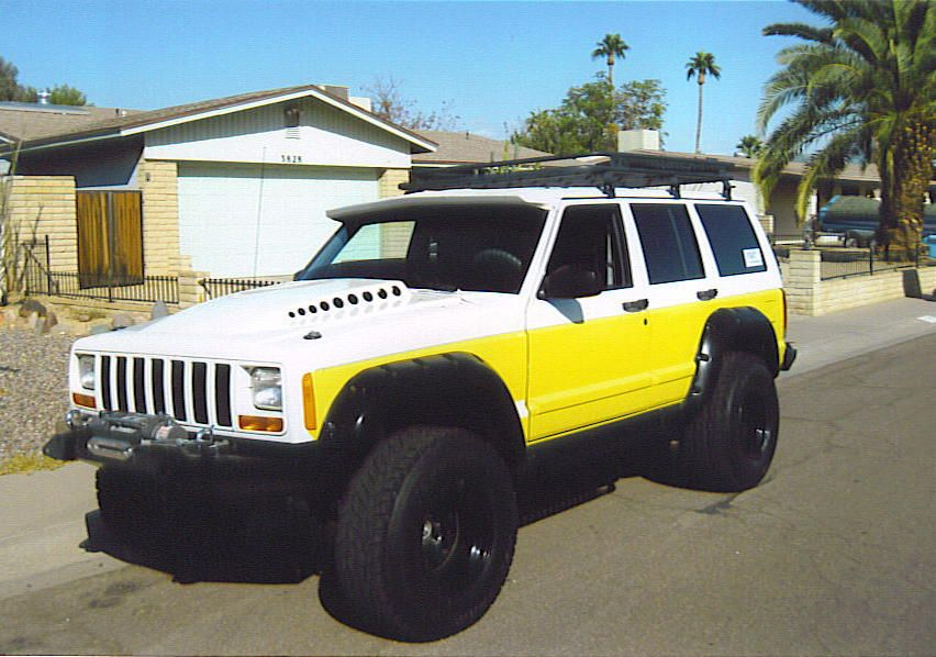 Jeep Grand Cherokee Would Love Mine Like This Someday Except Make The Yellow Black Jeep Cherokee Xj Jeep Xj Jeep Cherokee