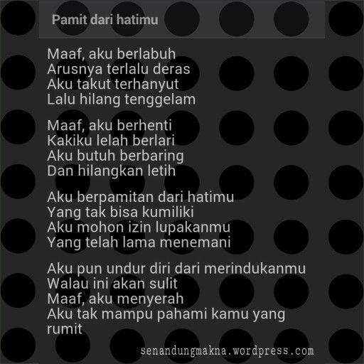 Pamit Dari Hatimu Quotes Puisi Indonesia Dengan Gambar Kata