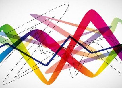 Abstract colorful wave background vector illustration also design rh co pinterest