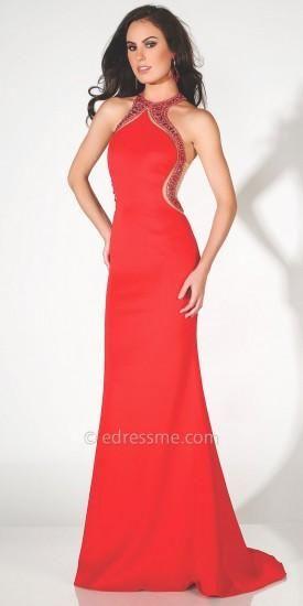 Jeweled Illusion Keyhole Prom Dress by Mon Cheri Paris  #dress #fashion #designer #moncheri #moncheriparis #edressme