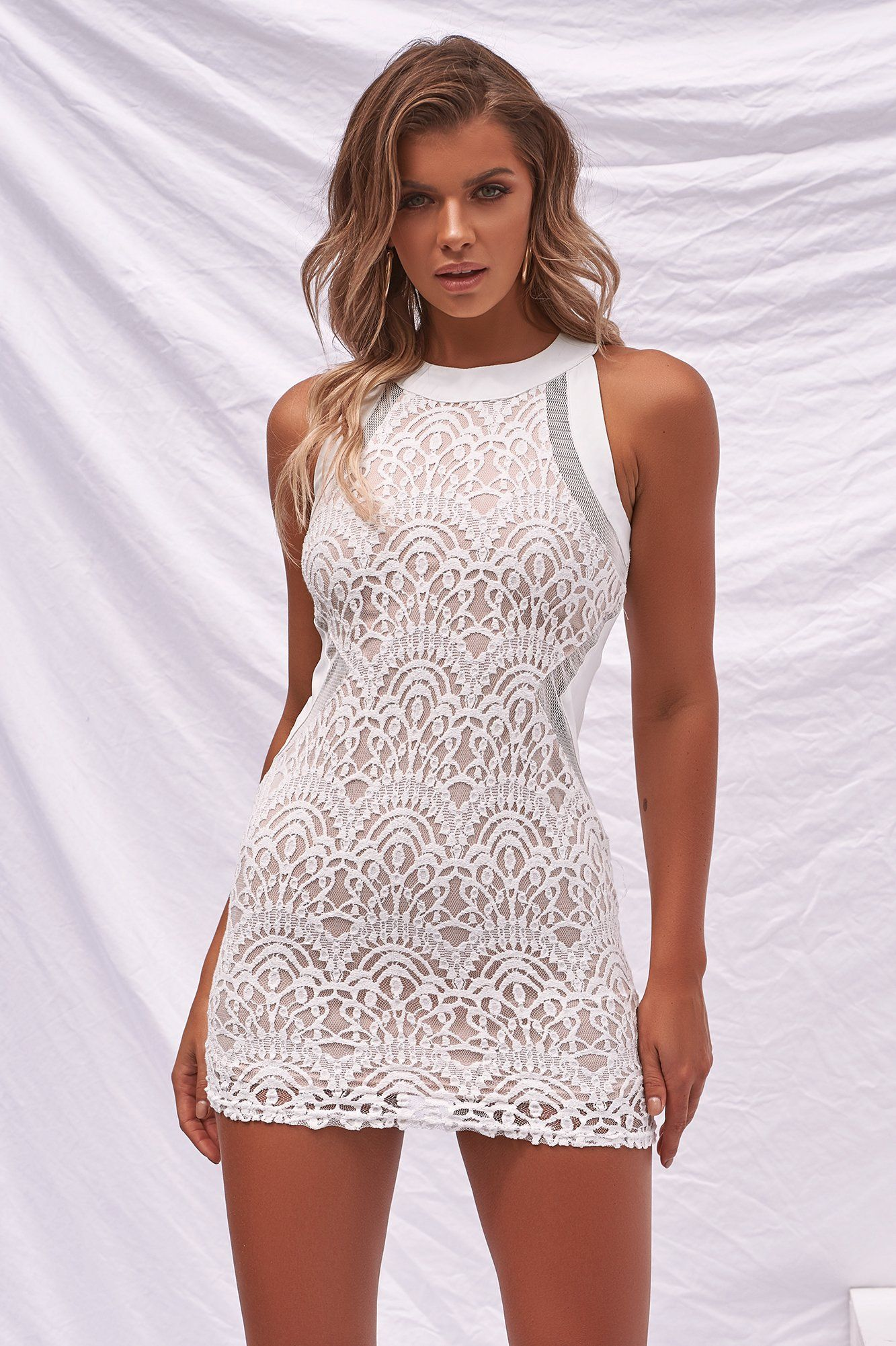 Higher Love Bodycon Dress White Style Bodycon Dress