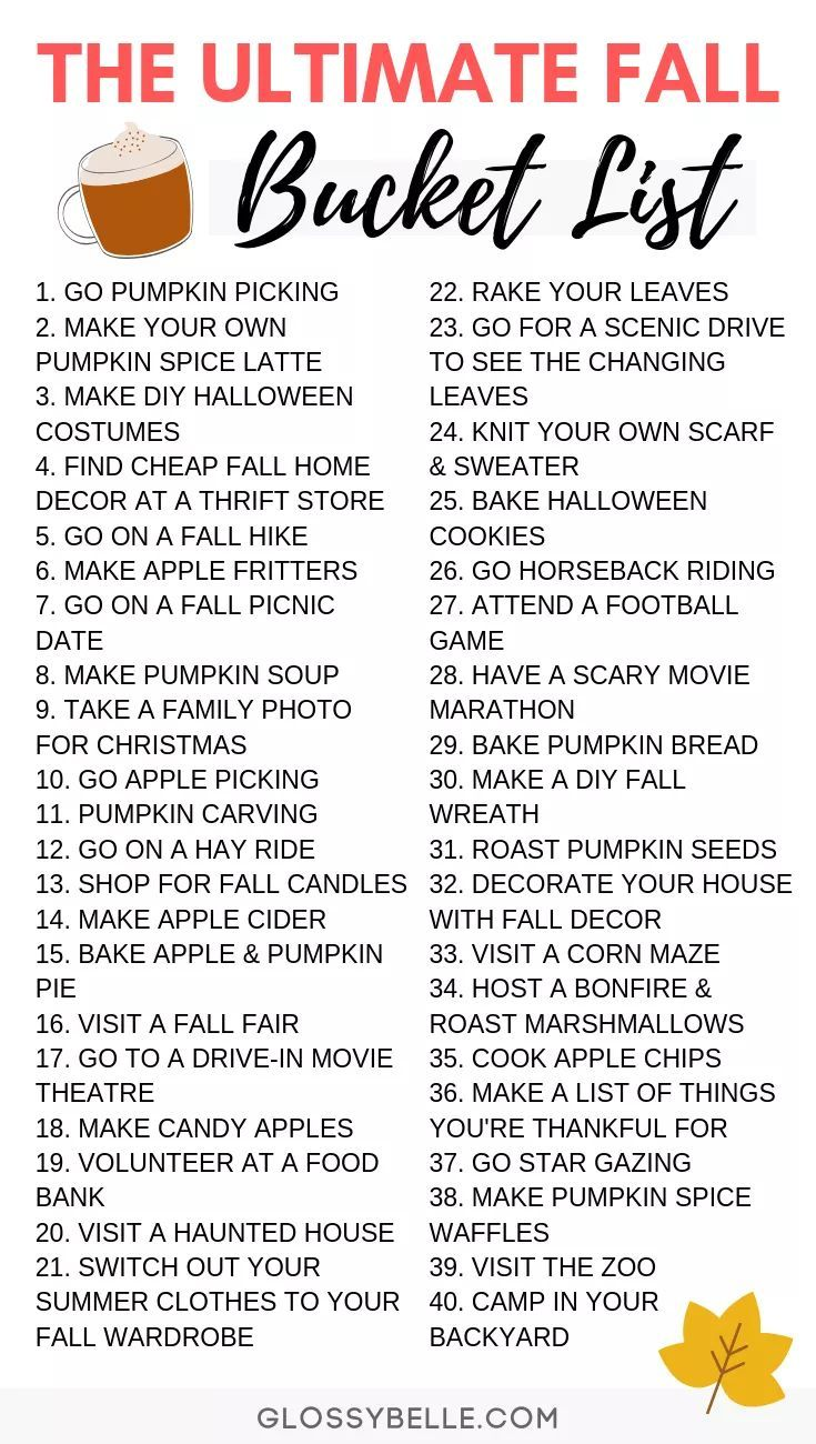 The Ultimate Fall Bucket List 40 Fun Activities To Try