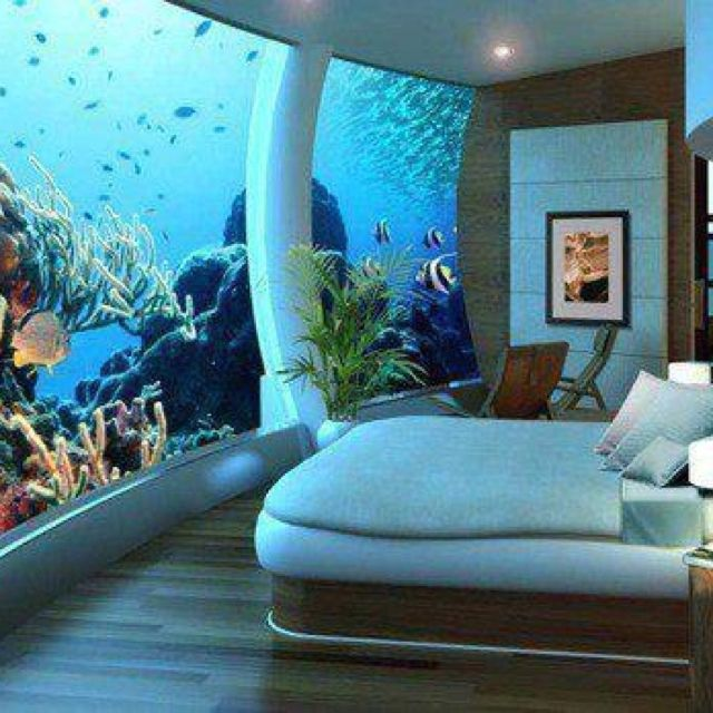 aquarium #wall #underwater #bedroom #hotel Hotel in Dubai | Kewl ...