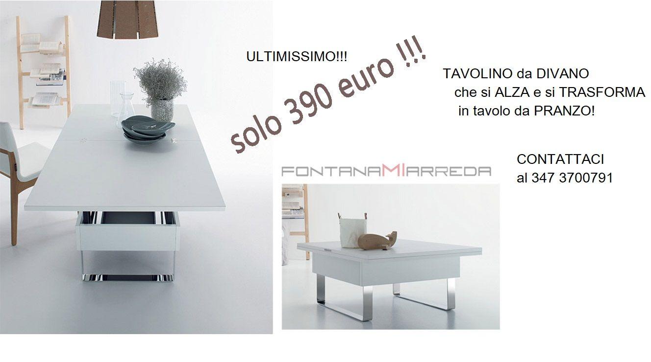 Tavolo Bianco 80x80 Allungabile.Tavolino Da Divano Che Diventa Tavolo Da Pranzo Sottocosto Per