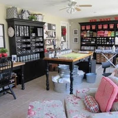 Sewing and Craft Room Inspiration {craft room}   Sewing rooms, Room ...