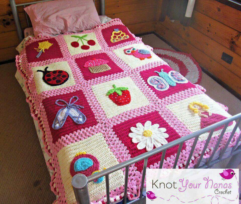 Crocheted blanket for a girl