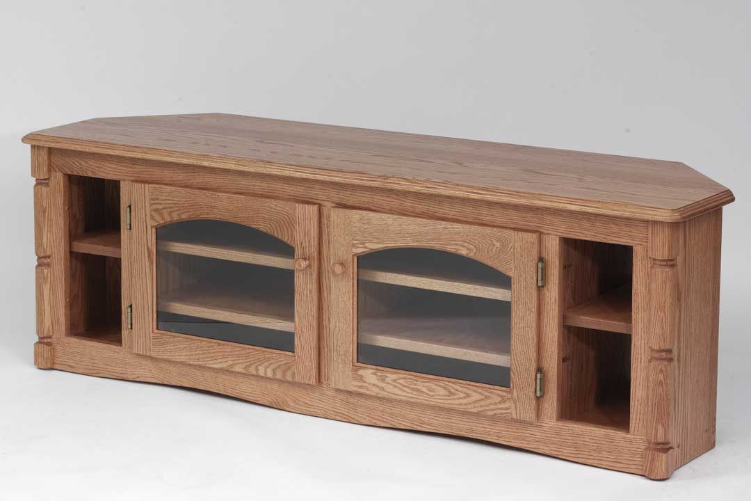 Solid Oak Country Style Corner Tv Stand 60 Tvs Country Style
