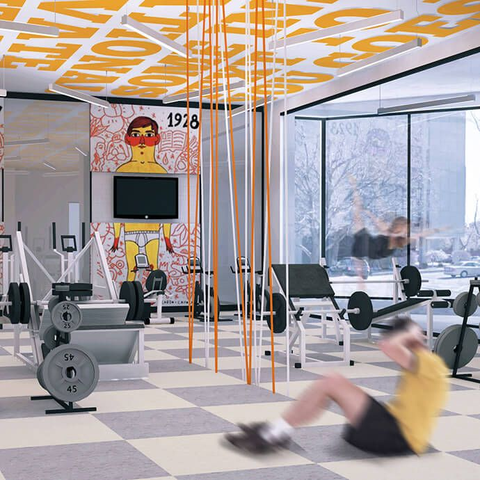 Off Campus Housing Student Residence Our Features 1eleven Clubhouse Design Gym Interior Gym Design