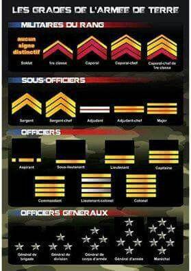 Epingle Par Emeline Bardeau Sur Divers Grades Militaires Armee De Terre Armee Francaise