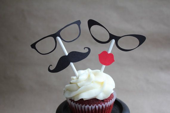 Eyeglass Duo Cupcake Toppers By SweetCollieDesigns On Etsy