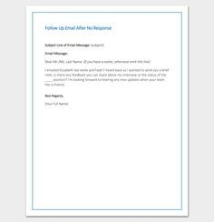Follow Up Email After No Response - Sample, Example, Format