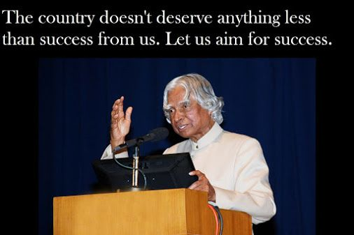 Image result for The country doesn't deserve anything less than success from us. Let us aim for success