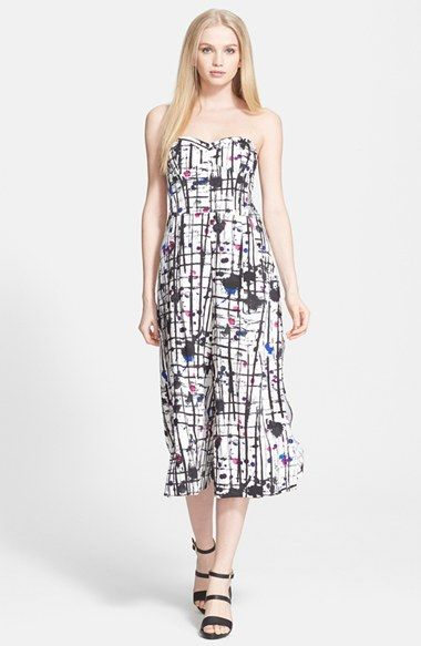 43fbe6ebb03b Milly+Print+Strapless+Culotte+Jumpsuit+available+at+ Nordstrom ...