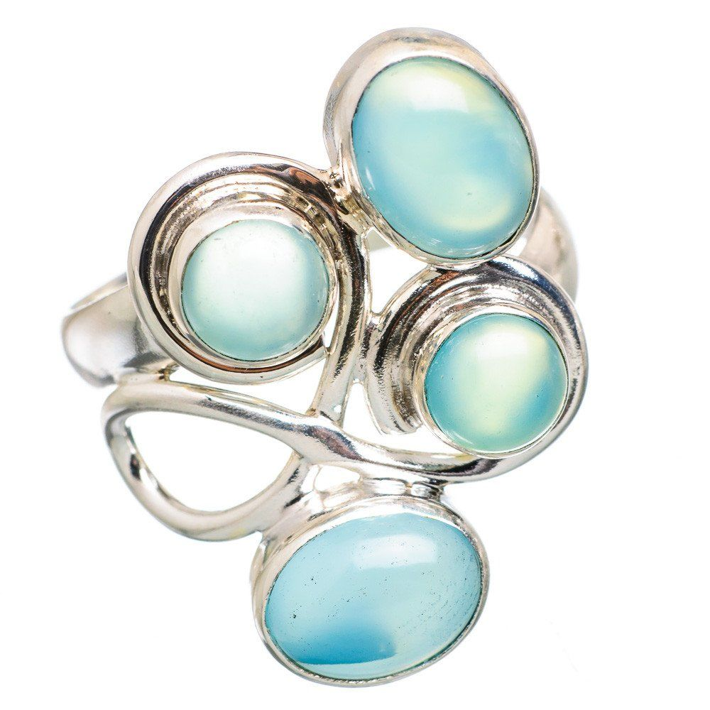 Ana Silver Co Rare Larimar, Aqua Chalcedony 925 Sterling Silver Ring Size 9.25 RING830414