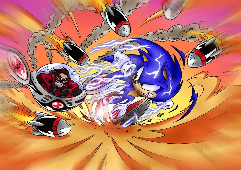 Sonic Vs Dr Robotnik By Aquila7000 On Deviantart In 2020 Sonic Sonic And Shadow Sonic Art