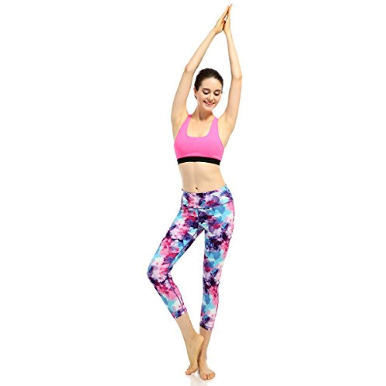 1dda287cfd X-Fit Sports Womens Yoga Leggings Spandex Running Workout Pants Hidden  Pocket Pilates Pants