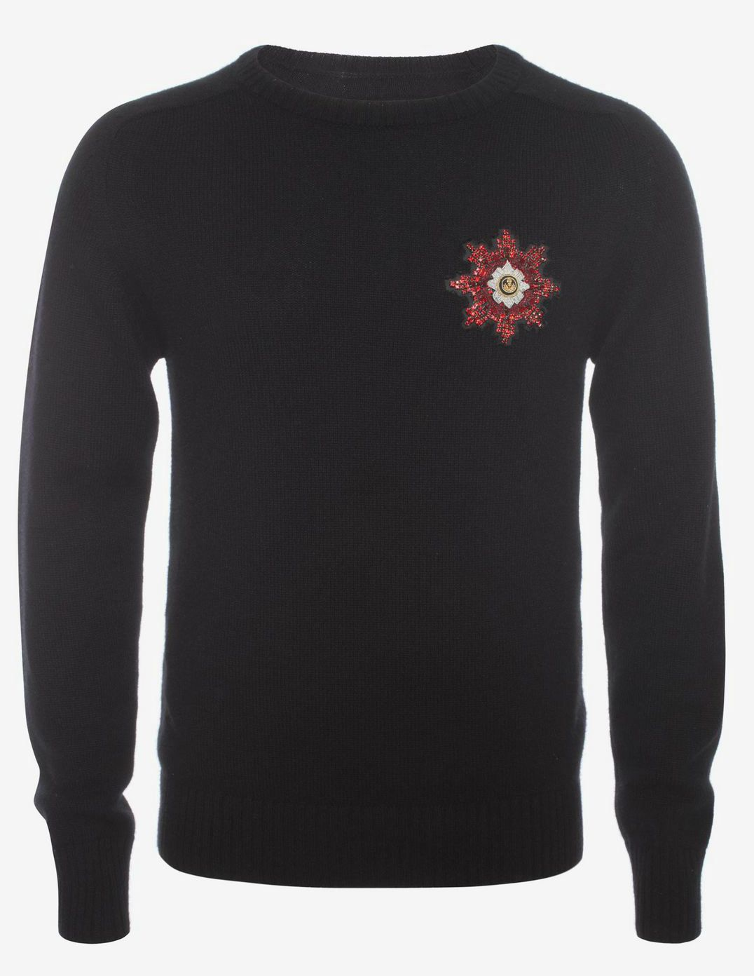 Alexander McQueen Medallion Embroidered Jumper. MATERIAL 100% Cashmere. 19 Jan 2016 at Alexander McQueen was 895 EUR, now 540 sizes: S-XL. 29 Jan 2017 on sale at Stylebop was 919 EUR, now 459 sizes: S-XL.