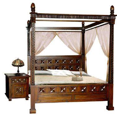 cama con dosel de estilo bali | cosas para la casa | Pinterest ...