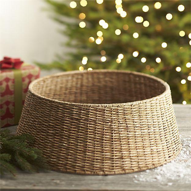 Abaca Tree Collar Tree Collar Christmas Tree In Basket