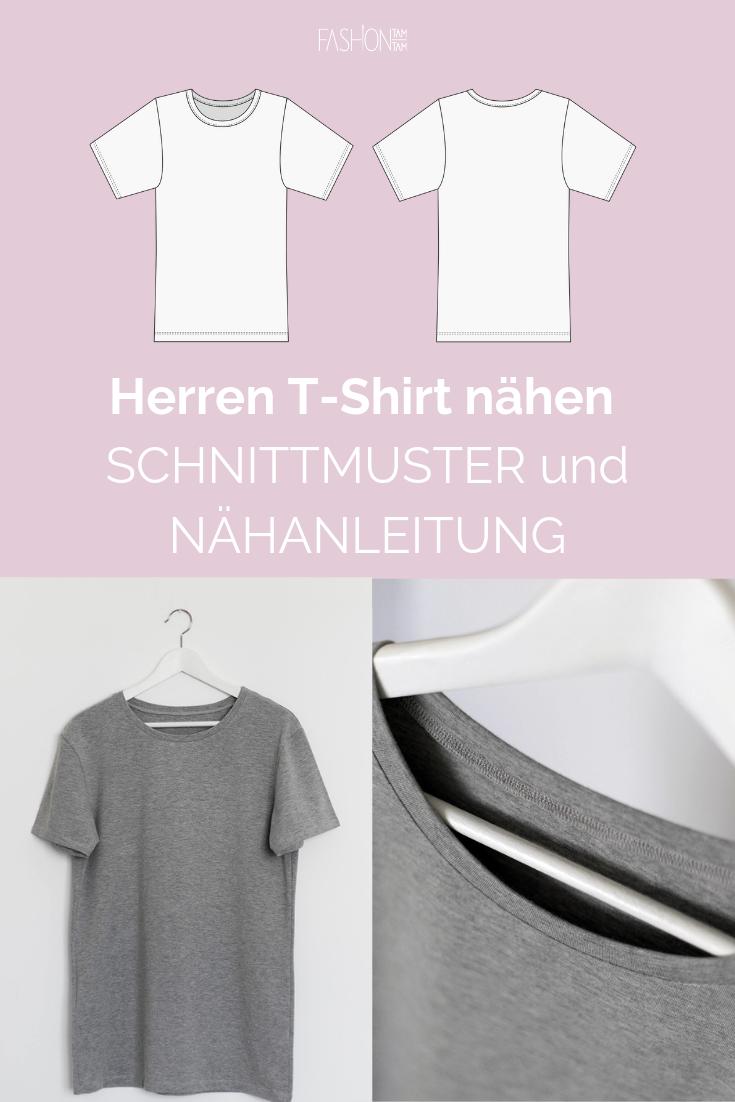 Schnittmuster Herren T-Shirt #menswag nähen - fashiontamtam.com