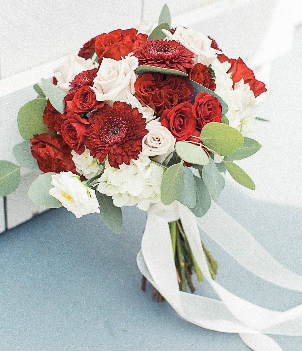 Pin on Burgundy and White Wedding Flowers