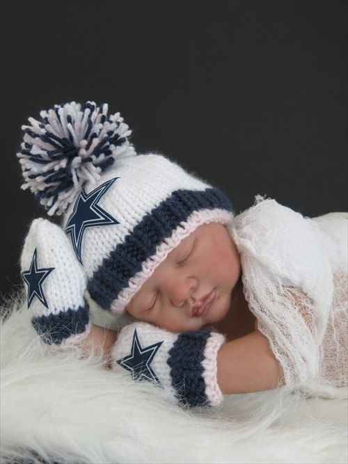 Dallas Cowboys Baby Clothes Enchanting Dallas Cowboys Baby Girl Beanie Hat In Starkbabylacenfrills Inspiration Design