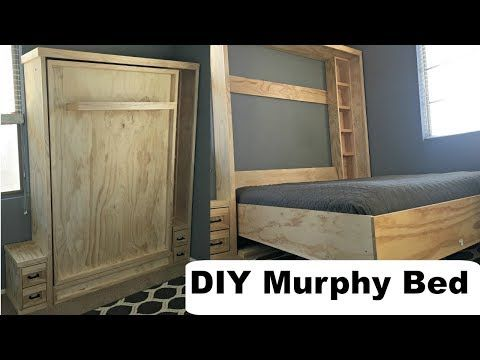 Diy Murphy Bed Without Expensive Hardware Youtube Murphy Bed Diy Build A Murphy Bed Murphy Bed