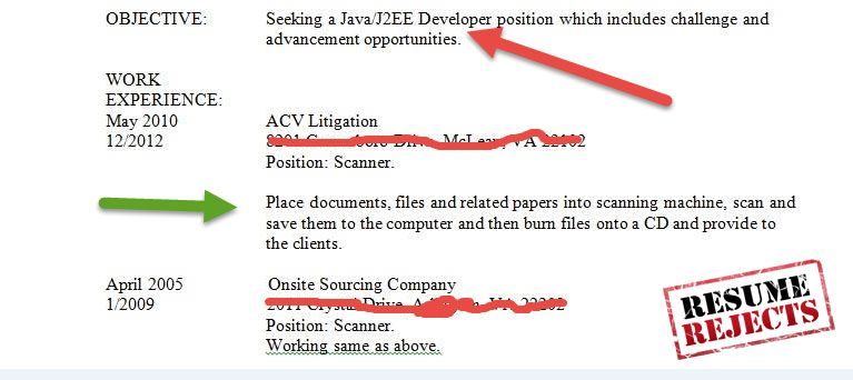 Resume Rejects Funny Resume Java Developer Scanner Fail Resume - common resume mistakes