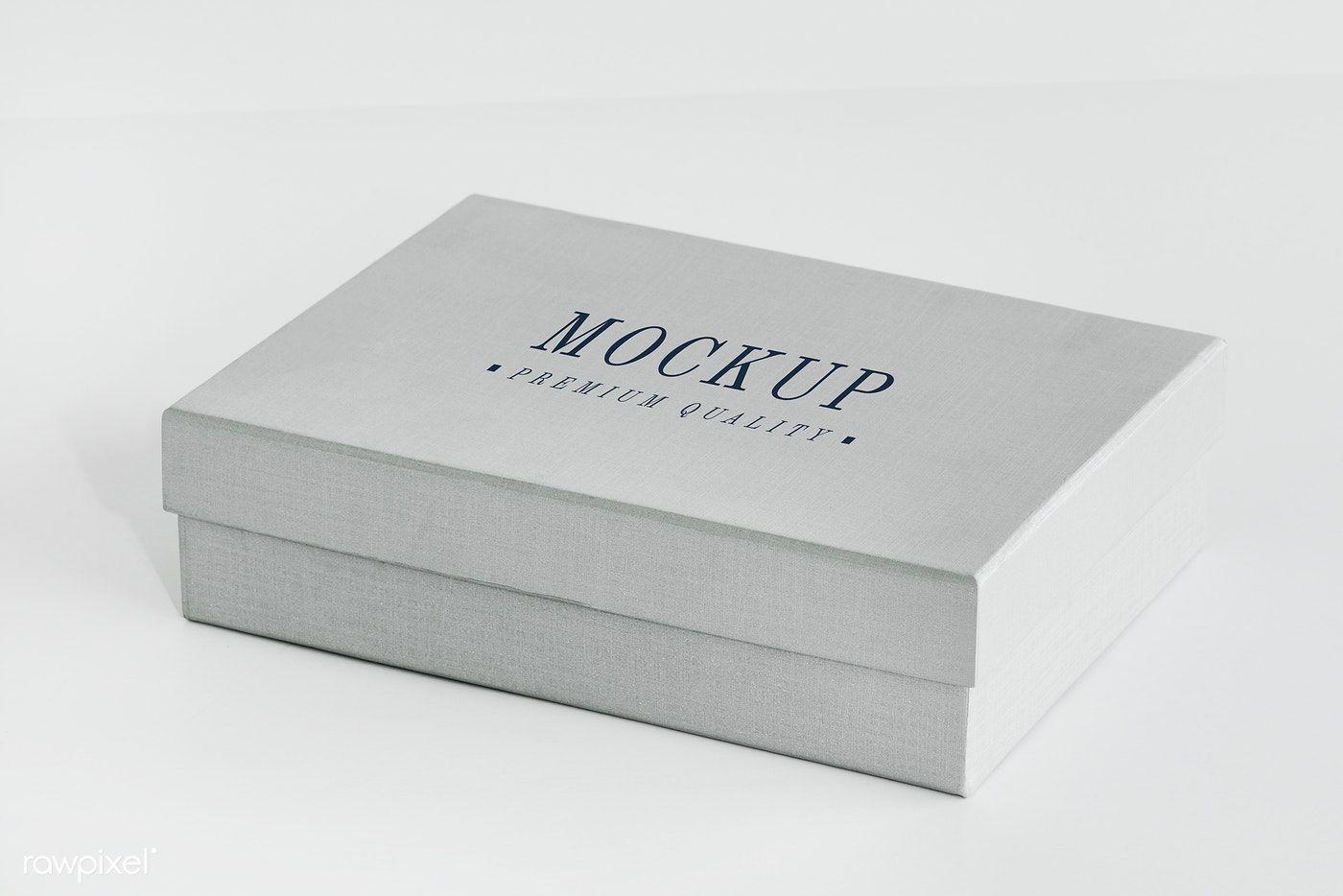 Download Download Premium Psd Of Classic Gray Gift Box Mockup 525563 Box Mockup Gift Box Design Free Mockup