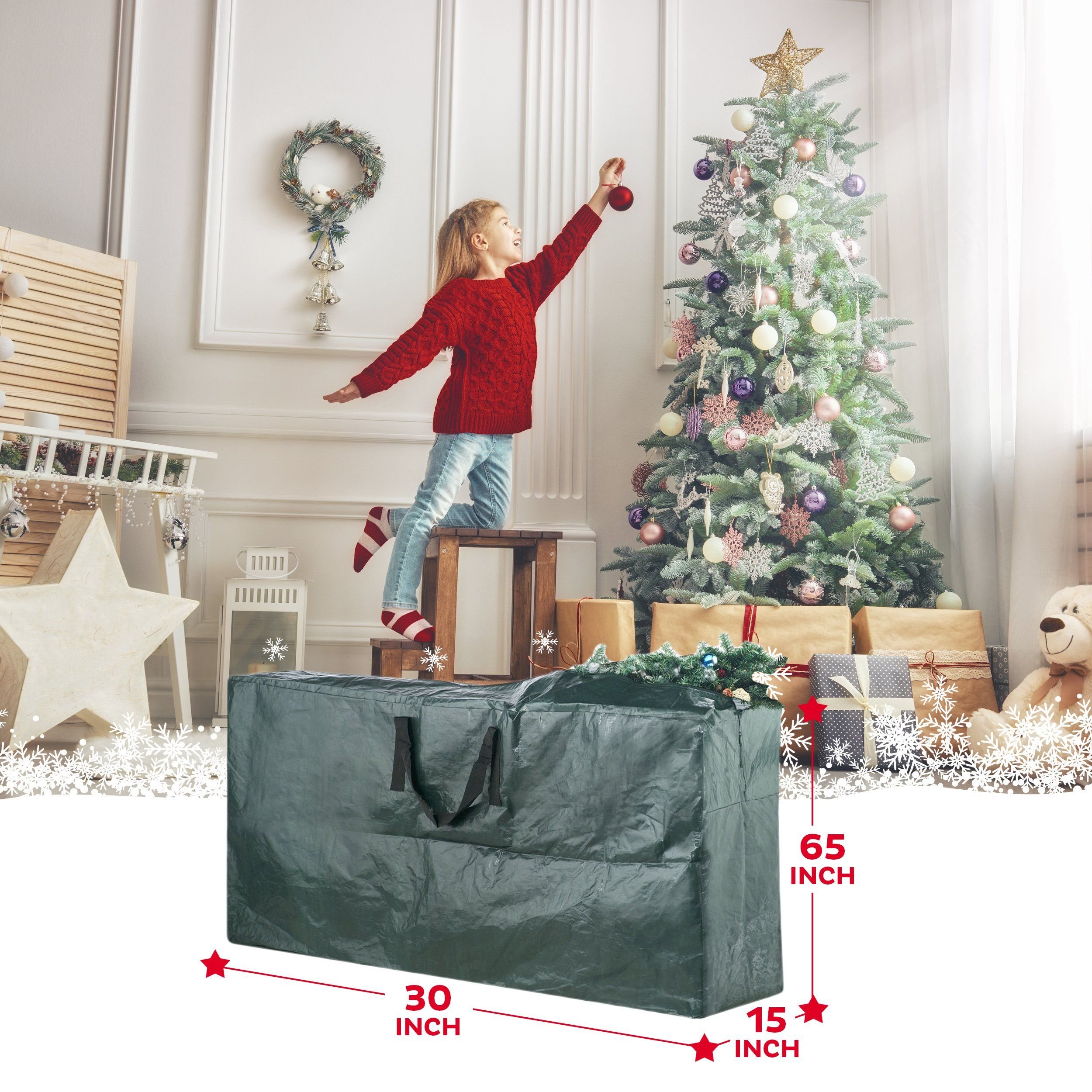 Domett Premium Christmas Tree Storage Bag Extra Large Holiday Decoration Container Hold With Images Christmas Tree Storage Bag Christmas Tree Storage Christmas Decorations