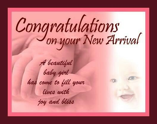 congratulations on your baby
