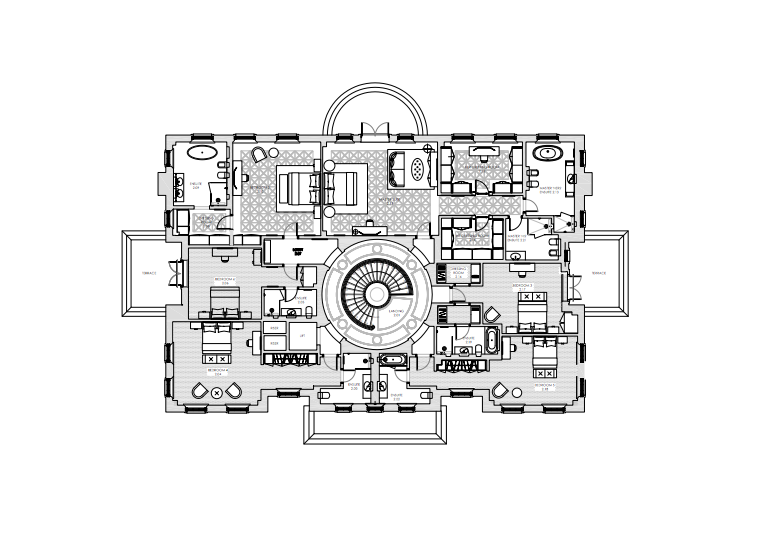 This Newly Built Neo Palladian Style Mansion Dubbed Quot Hurstbourne Quot Is Located On Portnall D Mansion Floor Plan Floor Plans Architectural Floor Plans