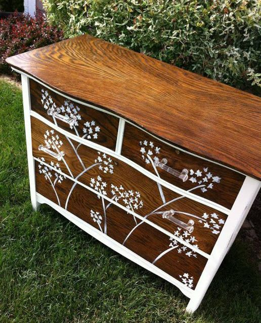 Awesome Dresser Makeover By Harmony Paintings - Featured On Furniture Flippin'