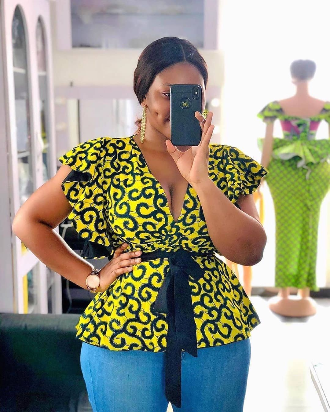 30 latest Ankara styles - Ankara blouse styles for classy ladies | African  print tops, African print fashion dresses, African fashion skirts