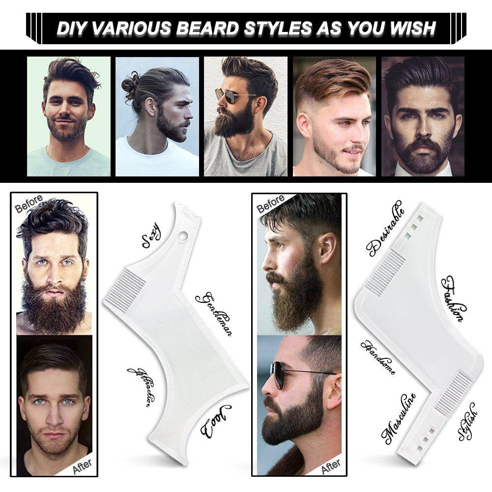 Bart Schablone Fur Das Bartstyling Bart Shaping Werkzeug Vorlage Styling Kammschablone In 2020 Bart Gesichtsbehaarung Bart Stile
