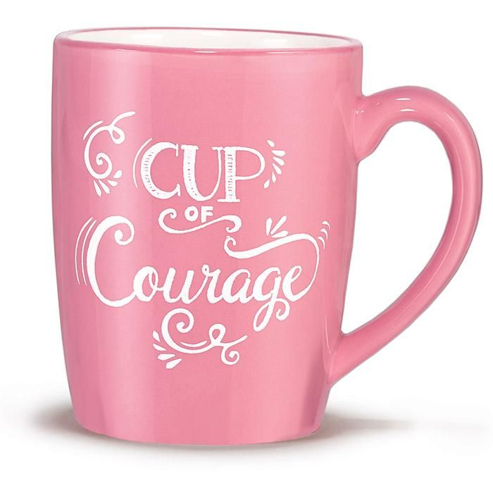 Breast Cancer Crusade Cup of Courage Mug...just 10 bucks! 2 bucks goes to Breast cancer research! Click the link!
