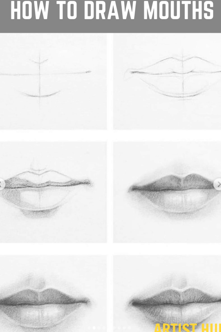 How To Draw Mouths Like A Pro Step By Step For Beginners