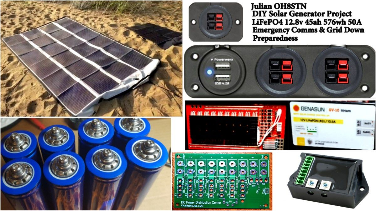 Diy Portable Solar Generator 12v 576wh Lifepo4 Solar Technology Solar Energy Panels Best Solar Panels