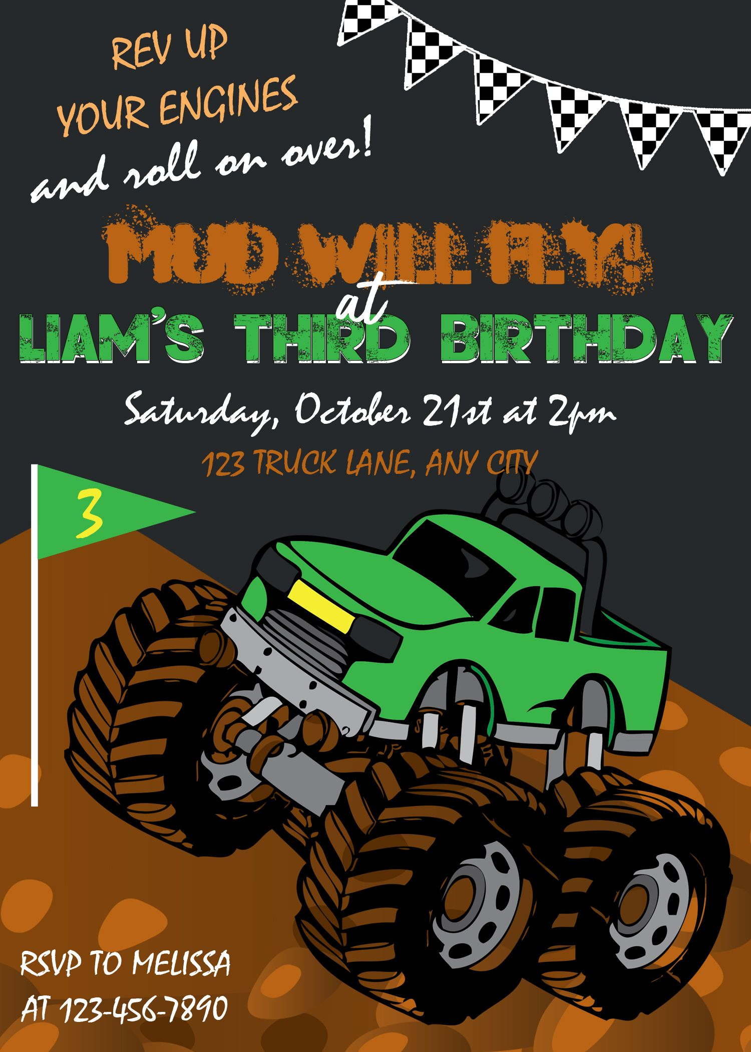 monster truck invitation monster truck birthday invitation truck