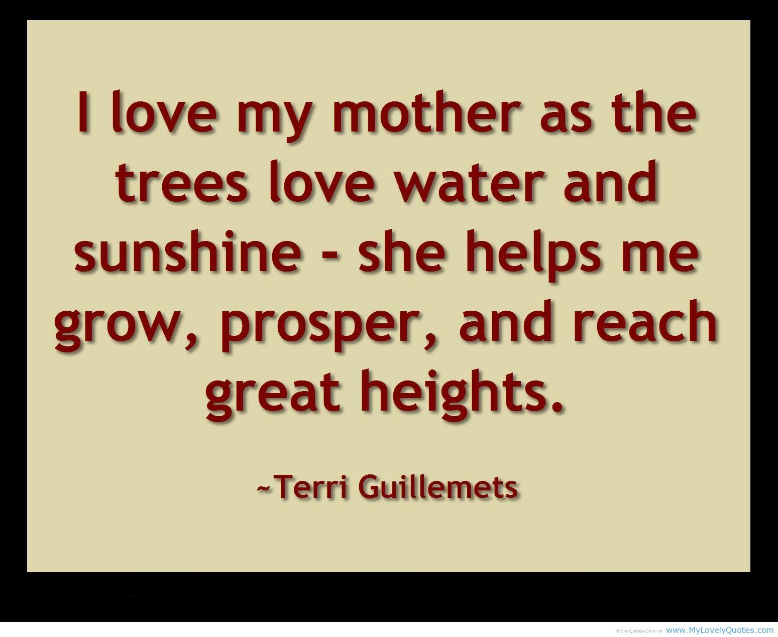 I love my mother FLVS inspiration quote