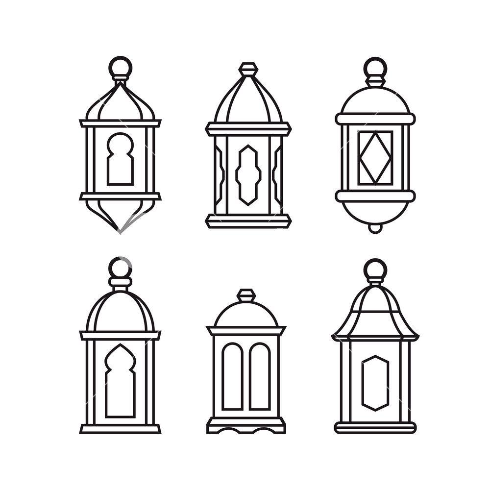 2d lantern template  Image result for lantern 7d | Artist business cards, Line ...