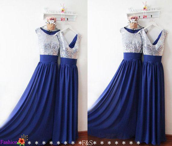 Royal Blue Prom Dressessequin Bridesmaid Dressesmodest Blue Etsy Royal Blue Bridesmaid Dress Long Inexpensive Prom Dresses Modest Bridesmaid Dresses
