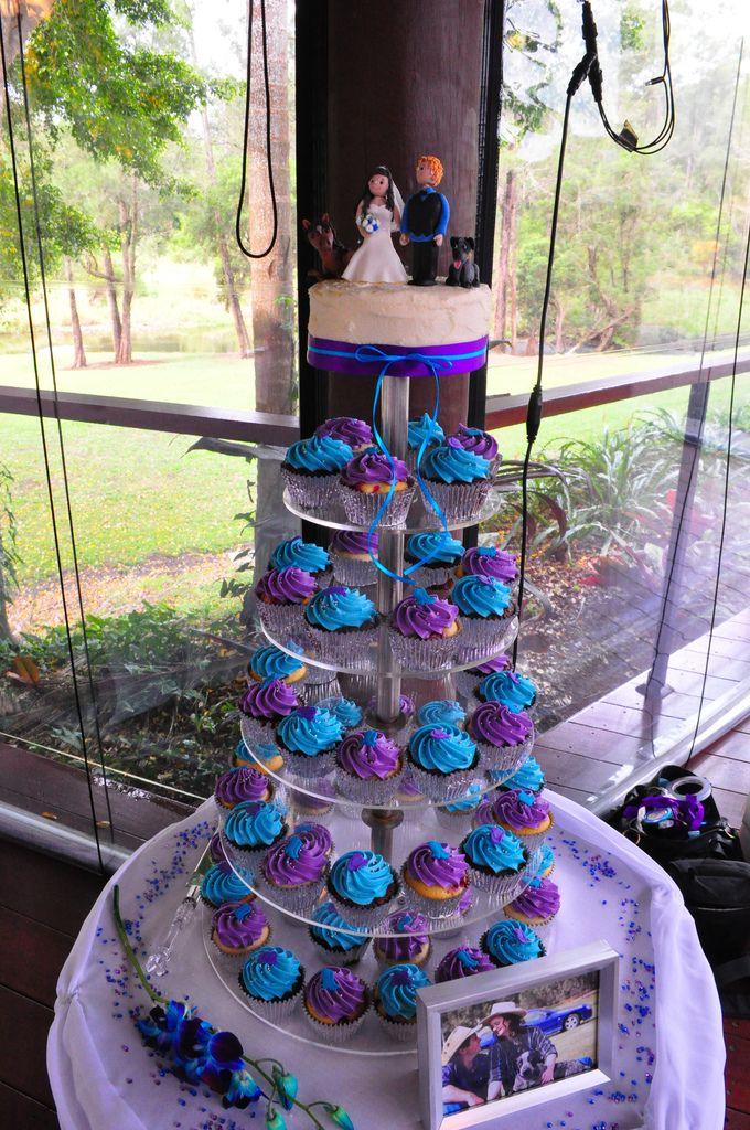 Purple And Turquoise Wedding Cupcakes Wedding Cupcakes Wedding