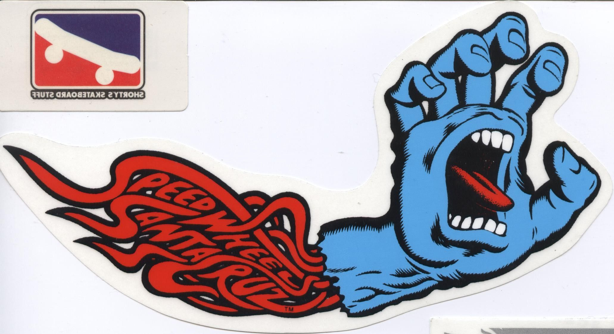 x2 Santa Cruz Skateboarding Skateboard Sticker Decal