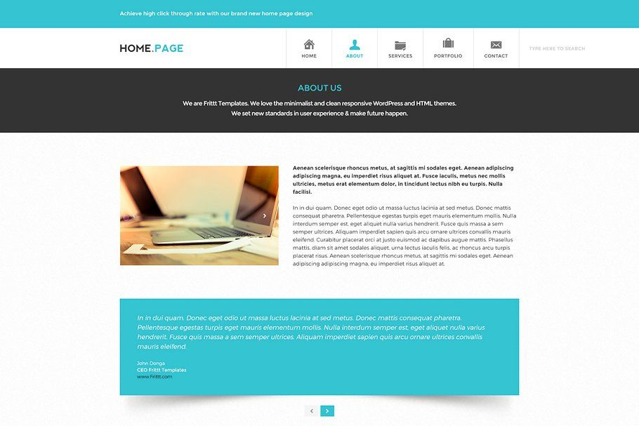 PSD Website Template - Home.Page в 2020 г