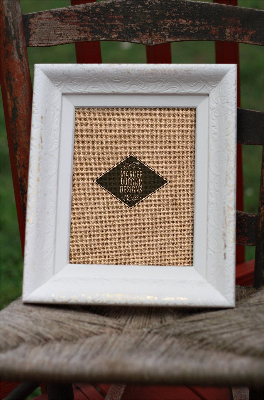 White Picture Frame | 8x10 White Ornate | Reclaimed Frame ...