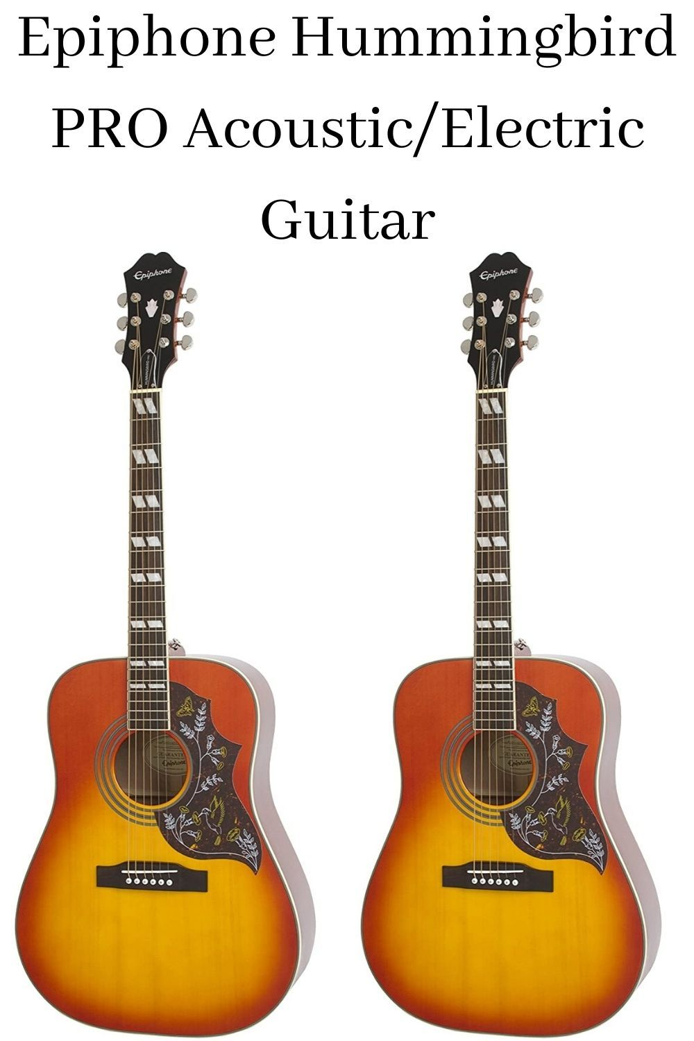 Epiphone Hummingbird PRO Acoustic/Electric Guitar in 2020
